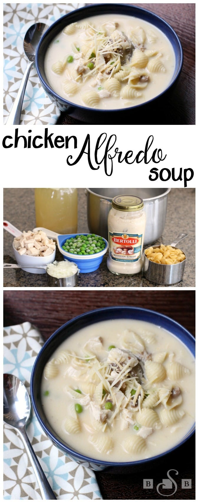 Chicken Alfredo Soup - Butter With A Side of Bread #