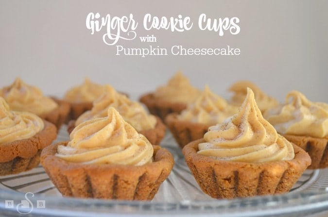 Ginger cookie Cups with Pumpkin Cheesecake - Butter With A Side of Bread