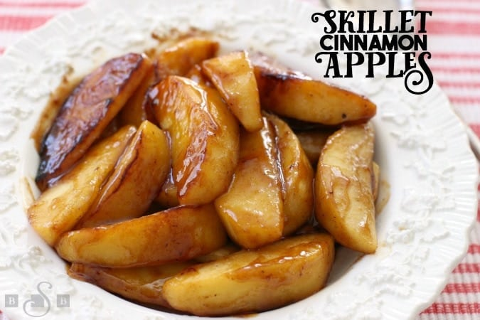 Cinnamon Apples recipe that's simple to make and spiced with cinnamon and nutmeg. Fried in a skillet with butter & brown sugar, they taste incredible.