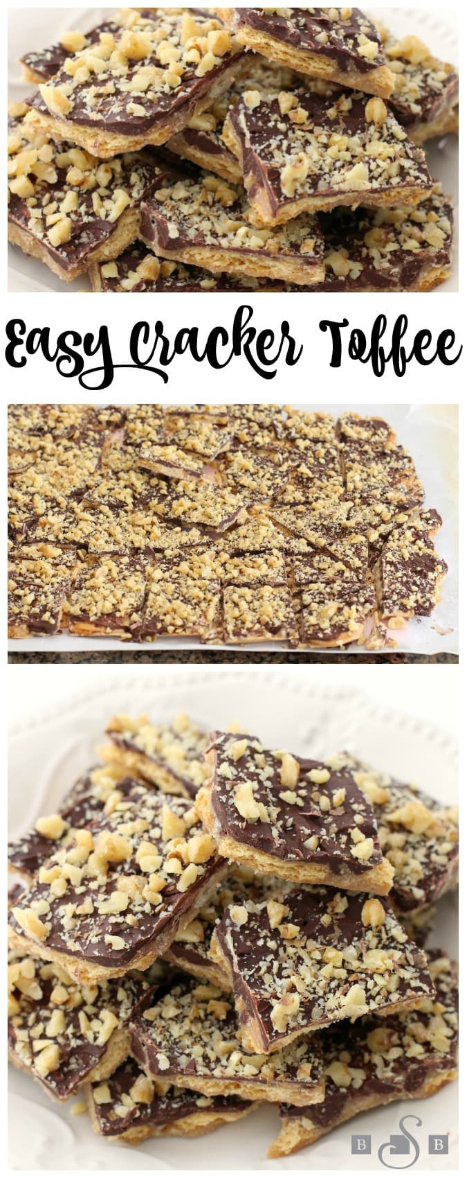 Easy Cracker Toffee is so quick and simple, and the sweet and salty mix from the chocolate and Ritz crackers tastes delicious!