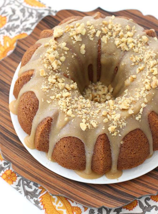 Pumpkin Bundt Cake with Caramel Glaze - Butter With A Side of Bread