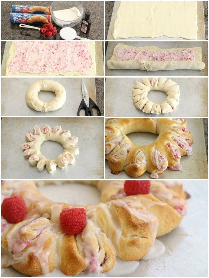 Raspberry Cream Cheese Crescent Ring is easy and gorgeous; plus, the taste of raspberries, cream cheese, and buttery crescent rolls combined can't be beat.