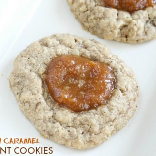 SALTED PUMPKIN CARAMEL THUMBPRINT COOKIES