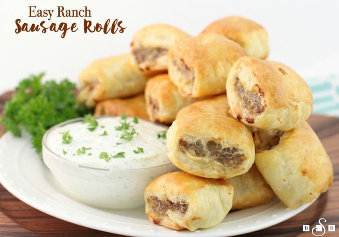 Easy ranch sausage rolls butter with a side of bread forumfinder Images