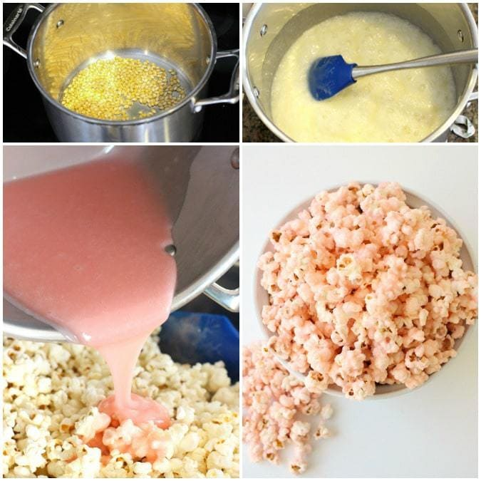 Pretty In Pink Popcorn Butter With A Side Of Bread