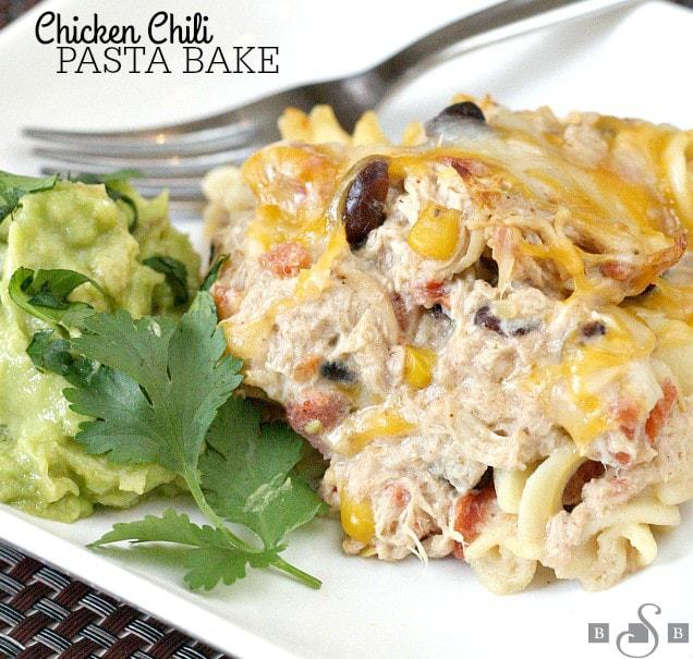 Chicken chili pasta bake butter with a side of bread for Hook fish chicken cincinnati oh