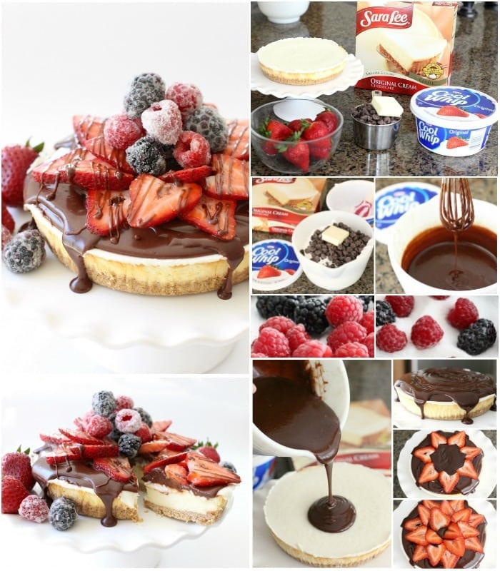 Cheesecake with Berries & Ganache.BSB.FBCollage