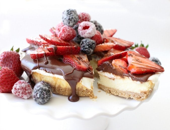 Cheesecake with Berries & Ganache - Butter With A Side of Bread