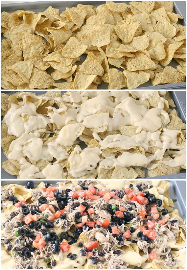 Chicken Nachos with Homemade Cheese Sauce - Butter With a Side of Bread
