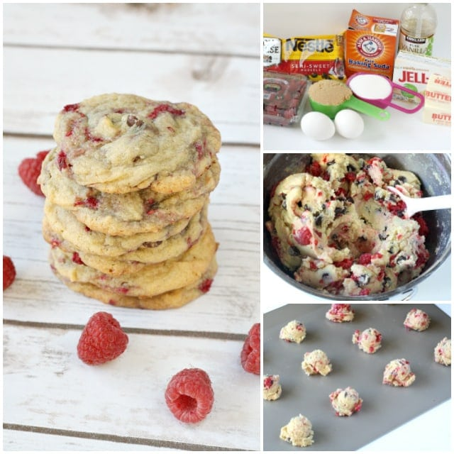 Raspberry Chocolate Chip Cookies are absolutely amazing! Adding fresh raspberries to a delicious classic cookie recipe makes such a delicious difference!