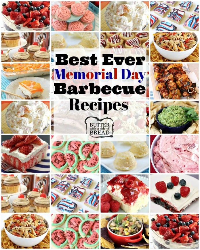 Best Memorial Day BBQ Recipes that will feed a crowd! Celebrate Memorial Day this year with fun, easy and patriotic recipes the whole family will enjoy.