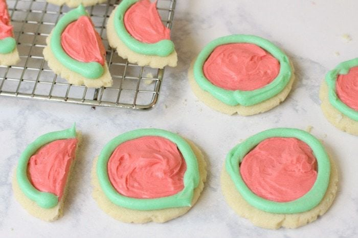 Easy Watermelon Cookies - Butter With A Side of Bread