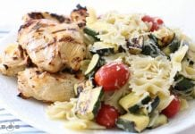 Grilled Italian Chicken & Pasta - Butter With A Side of Bread