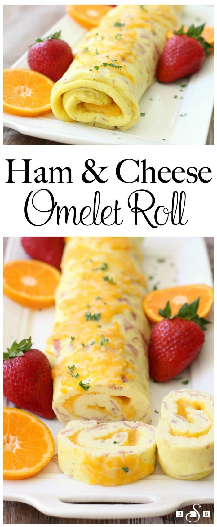 Ham & Cheese Omelet Roll...your new favorite breakfast! It takes the delicious egg, ham, and cheese flavor combination and gives it a lovely twist, while remaining simple to make.