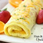 Ham & Cheese Omelet Roll - Butter With A Side of Bread