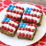 Patriotic Chocolate Chunk Cookie Bars - Butter With A Side of Bread