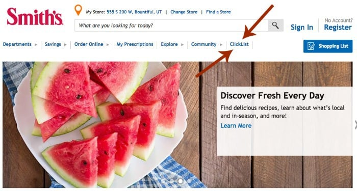 Smiths Clicklist Kroger Online Grocery Shopping