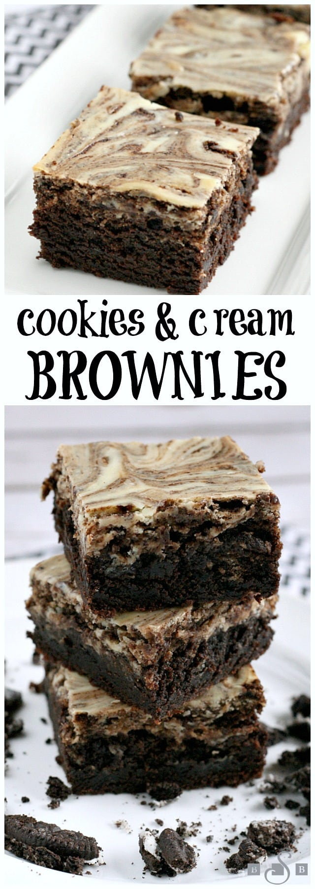 Cookies & Cream Brownies - Butter With a Side of Bread