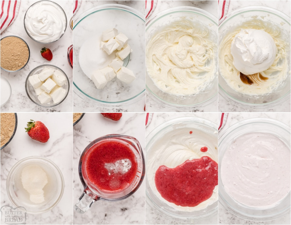 how to make Homemade Strawberry Cheesecake Bites