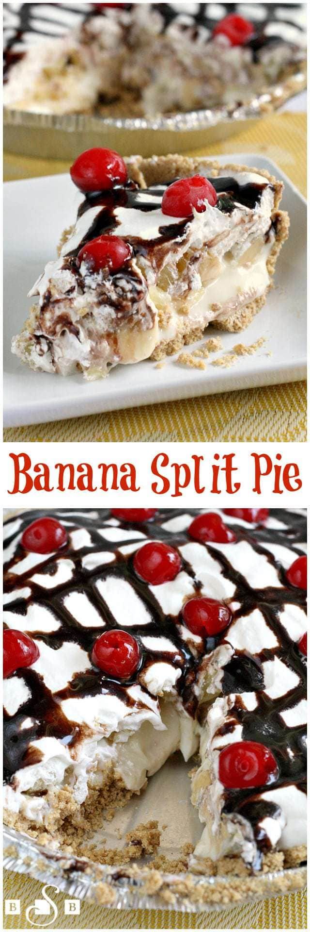 Banana Split Pie - Butter With a Side of Bread