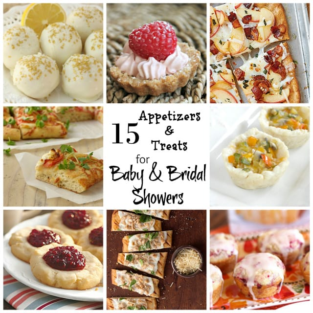 15 appetizers and treats for baby bridal showers butter with a