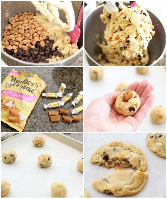Caramel Stuffed Chocolate Chip Cookies.BSB.Collage2