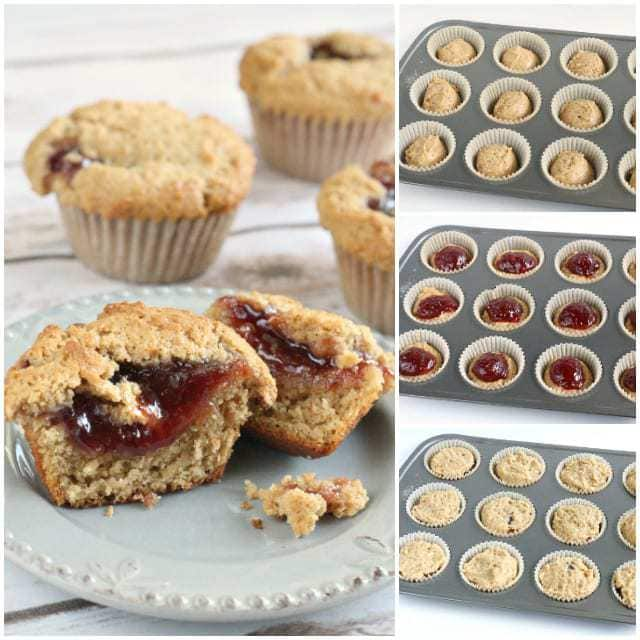 Peanut Butter & Jelly Muffins - Butter With a Side of Bread