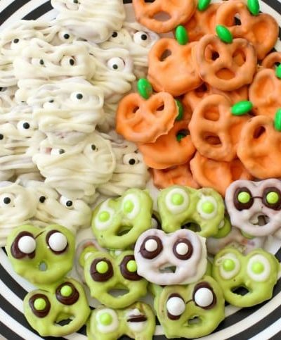 Halloween Pretzels: 3 Cute & Creepy Ways to Make Them, from Butter With A Side of Bread