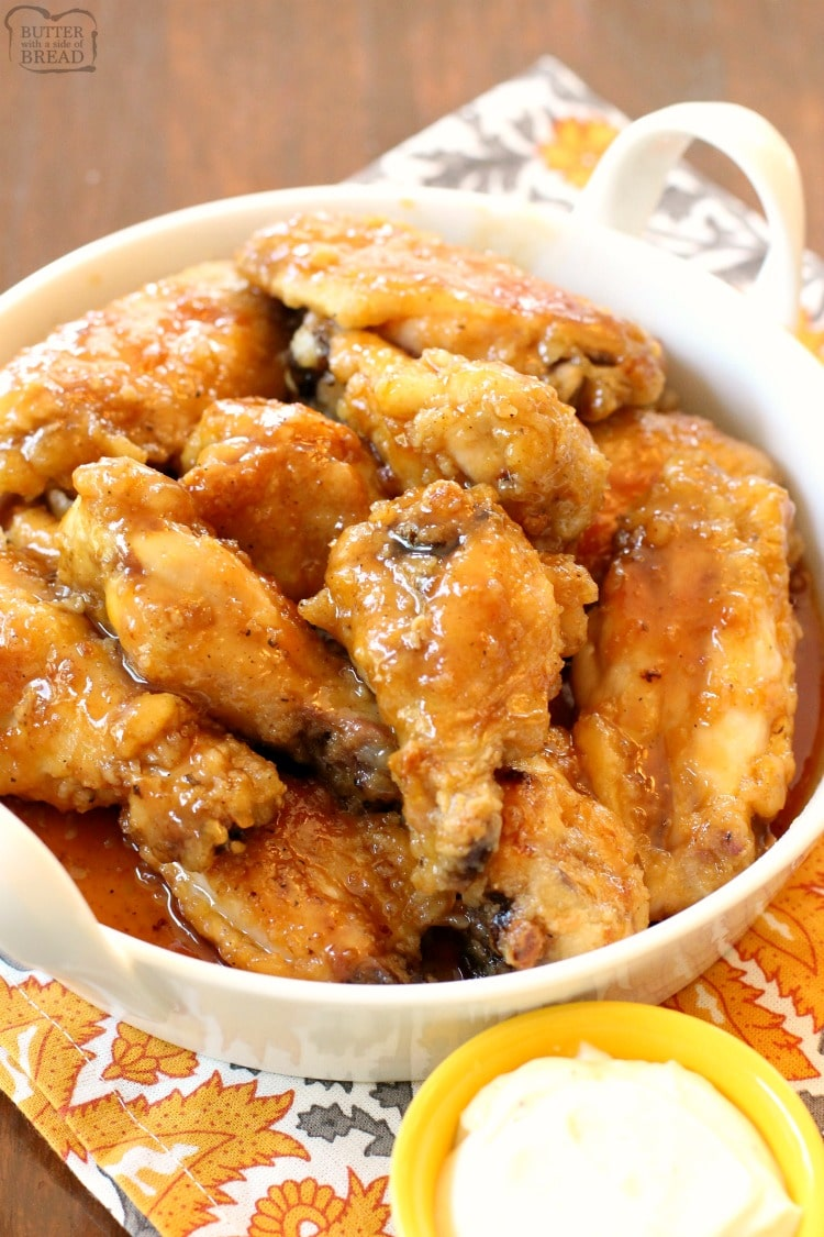 Honey Glazed Chicken Wings are baked, then smothered with a delicious sweet honey glaze. Simple baked chicken wings recipe are literally finger-lickin' good!