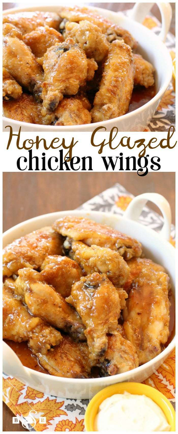 Honey Glazed Chicken Wings - Butter With A Side of Bread