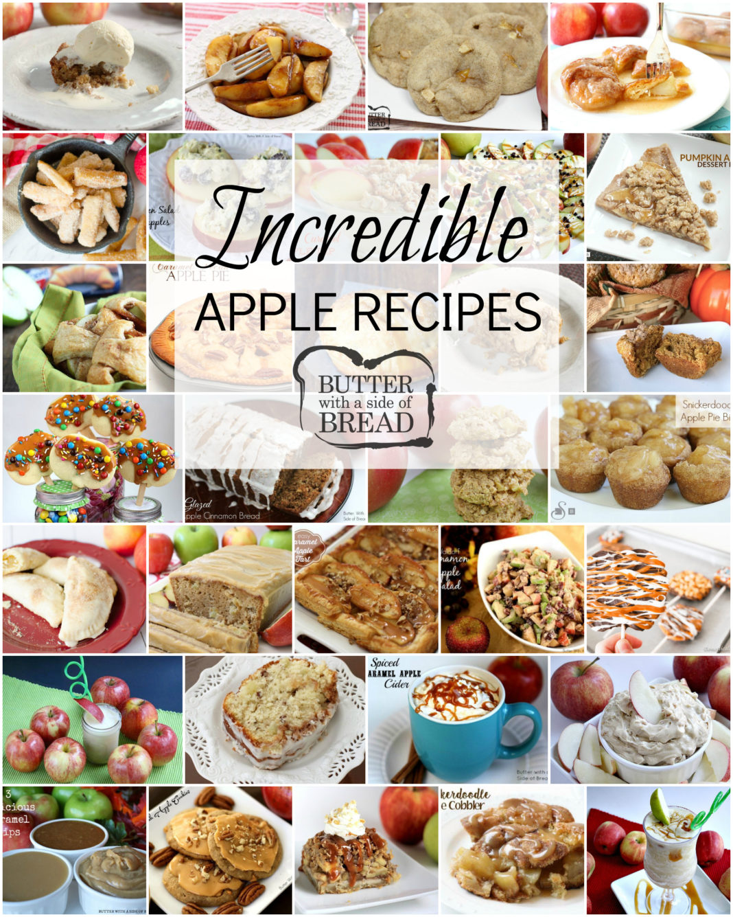 Tried & true incredible Apple Recipes that everyone enjoys! Featuring apple desserts, apple snacks, cookies, breads and more. Easy apple recipe for fall baking or any time of the year.