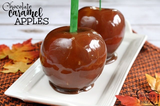 Chocolate Caramel Apples - Butter With a Side of Bread
