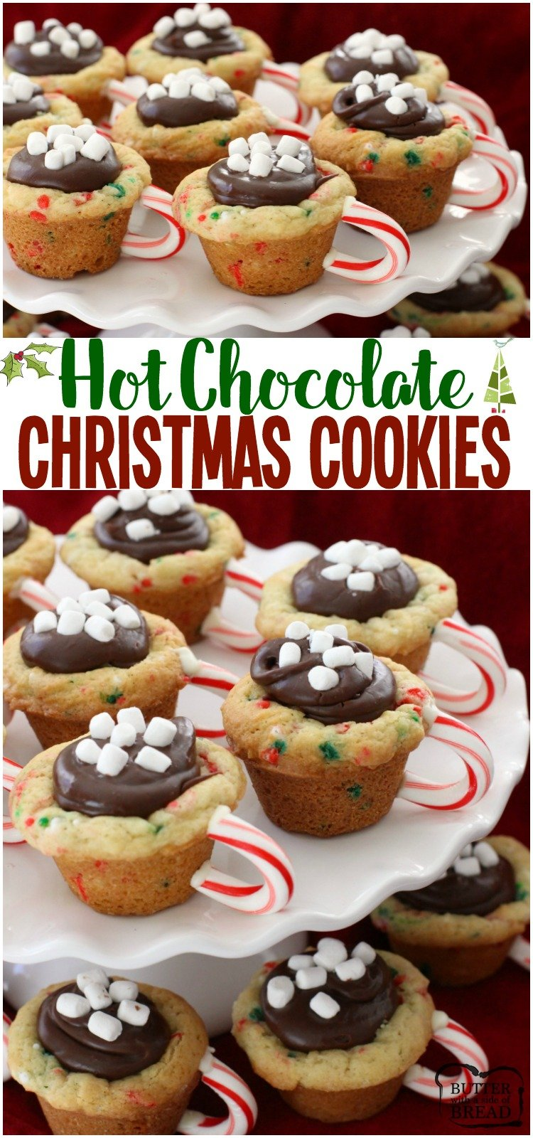 hot chocolate cookie cups are the most fun festive christmas cookies ever sugar cookie