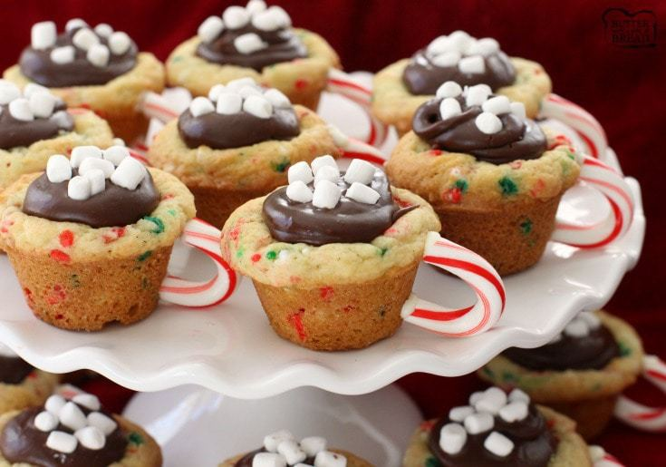 Hot Chocolate Cookie Cups Butter With A Side Of Bread