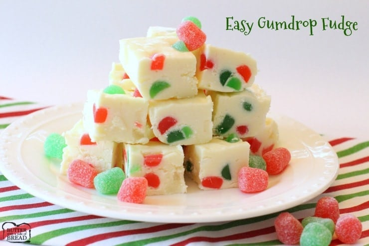 Easy, 3-ingredient Gumdrop Fudge - Butter With A Side of Bread