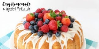 Easy Homemade Vanilla Cake ~ Butter With A Side of Bread