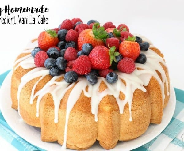 Easy Homemade Vanilla Cake Butter With A Side Of Bread