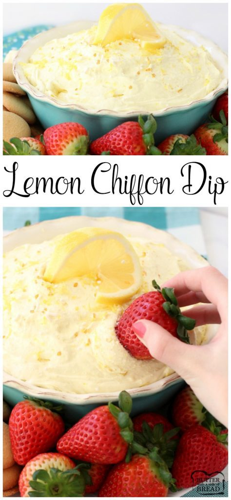 Lemon Chiffon Dip - Butter With A Side of Bread