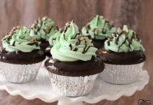 Mint Chocolate Cupcakes + How to make a boxed cake mix taste better