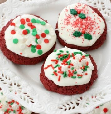 Easy Red Velvet Christmas Cookies - Butter With A Side of Bread