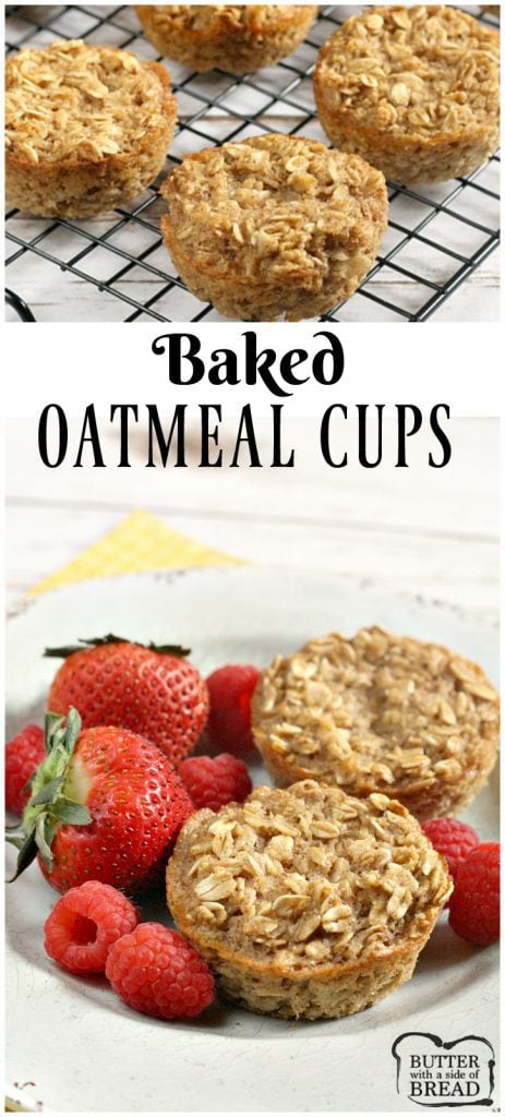 Baked Oatmeal Cups - Butter With a Side of Bread