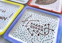 DIY Sharpie Porcelain Plates Game Day Serving Plates - Butter With A Side of Bread