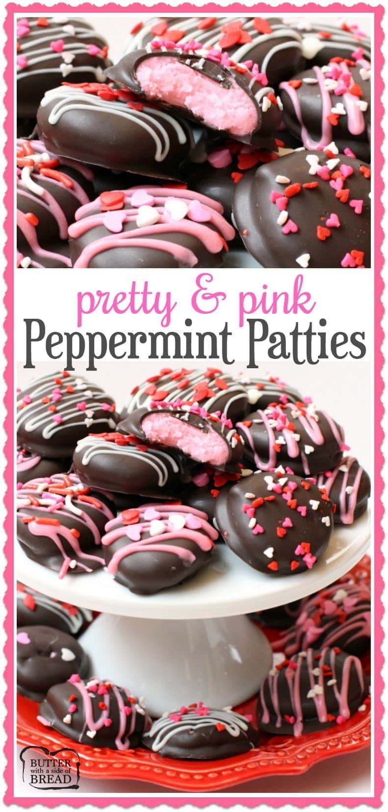 Homemade Pink Valentines Peppermint Patties - Butter With A Side of Bread