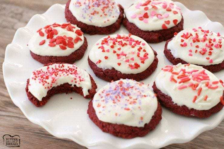 Red Velvet Valentines Cookies   Butter With A Side Of Bread