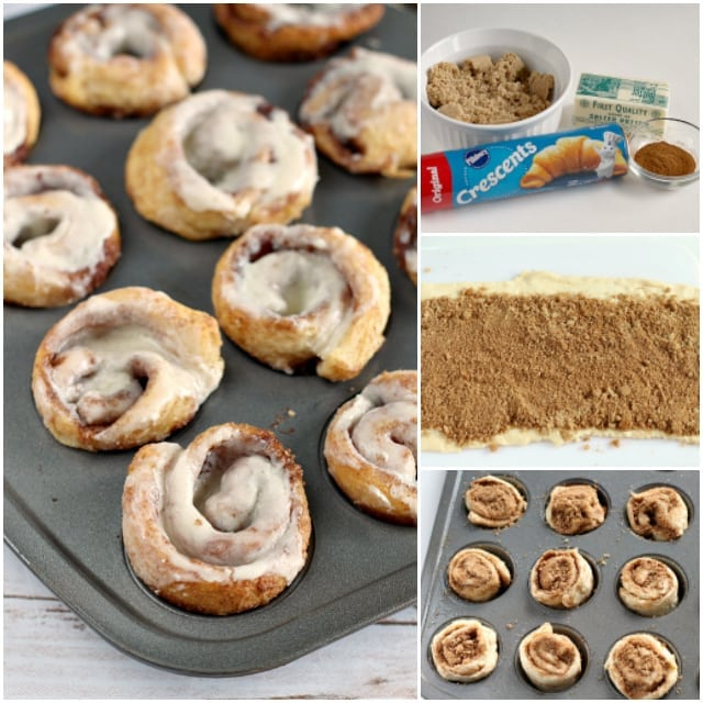 Mini 15-Minute Cinnamon Rolls are so much quicker (and cuter!) than traditional from-scratch cinnamon rolls, and they are delicious too!