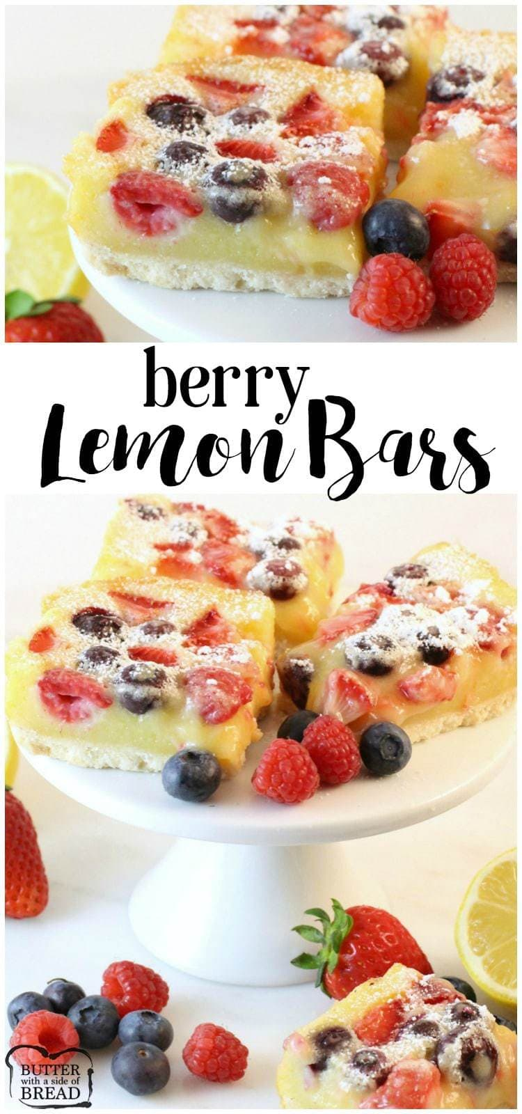 Berry Lemon Bar Recipe - Butter With A Side of Bread
