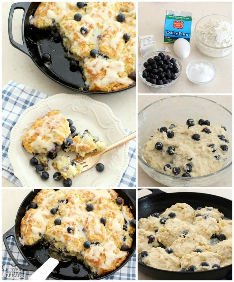 Soft, buttery homemade Blueberry Buttermilk Biscuits will melt in your mouth! One of my favorite biscuit recipes ever and perfect for any time of the day.