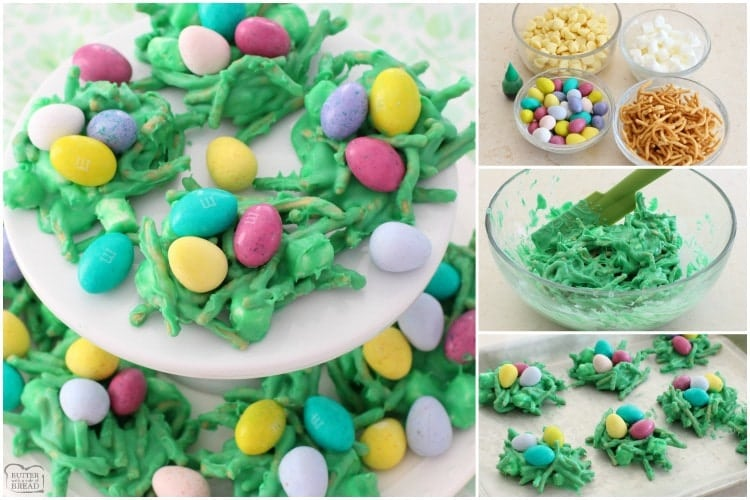 Easy, festive Easter Egg Nests are a cute addition to any Easter table ...