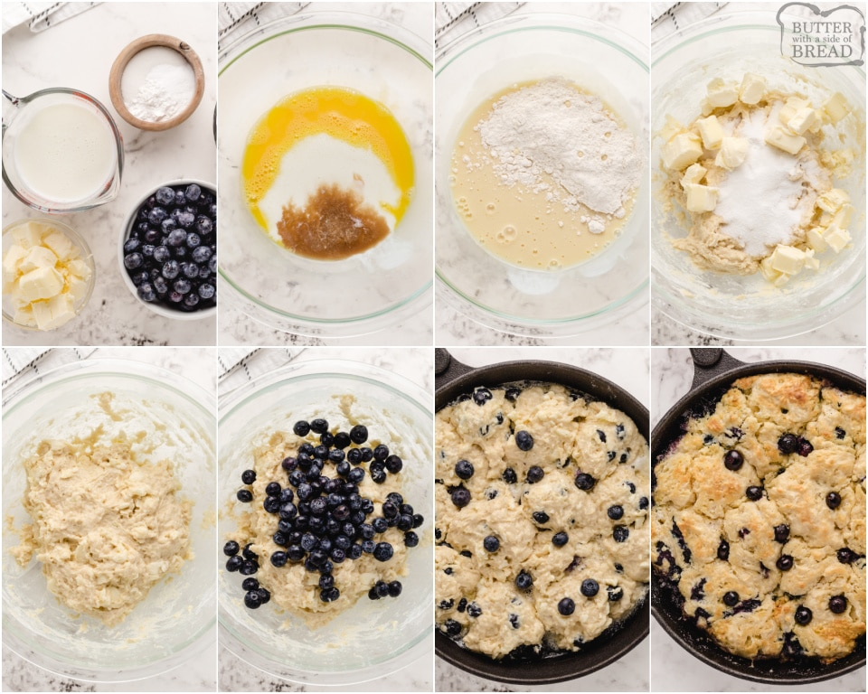 How to make a Buttermilk Blueberry Biscuits recipe in the cast iron skillet