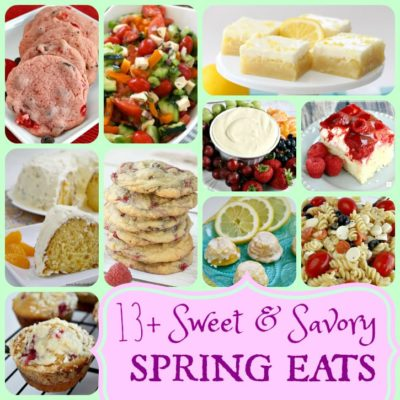 SWEET AND SAVORY SPRING EATS